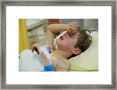 After The School Accident Framed Print by Abendstern