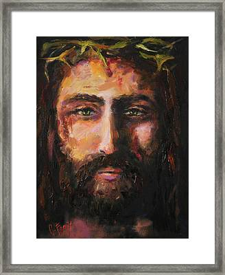After The Scourging Framed Print by Carole Foret