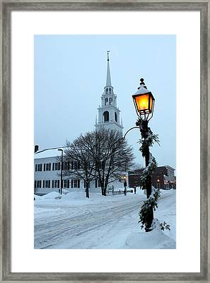 After The Snowfall Framed Print by Suzanne DeGeorge