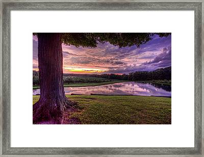 After The Storm At Mapleside Farms Framed Print