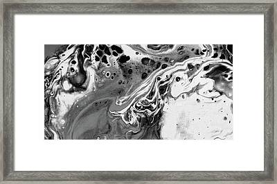 After The Storm - Black And White Art Painting Framed Print by Modern Art Prints