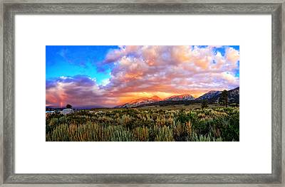 After The Storm Panorama Framed Print