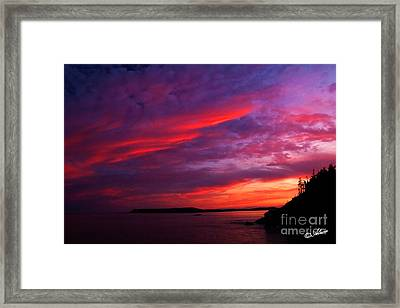 Framed Print featuring the photograph After The Storm Sunset by Alana Ranney