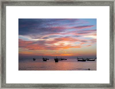 After The Sun Has Set Framed Print