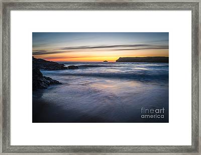 After The Sunset At Polzeath Cornwall Framed Print by Amanda Elwell