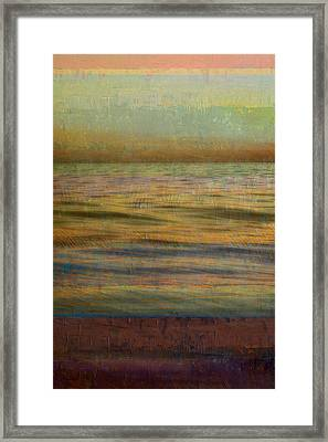 Framed Print featuring the photograph After The Sunset - Teal Sky by Michelle Calkins