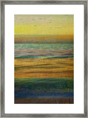 Framed Print featuring the photograph After The Sunset - Yellow Sky by Michelle Calkins