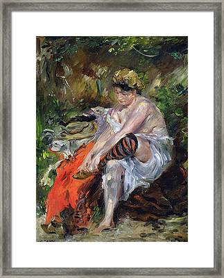 After The Swim Framed Print by Lovis Corinth