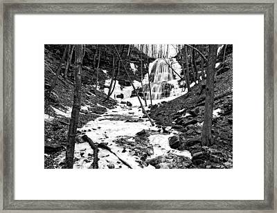 After The Thaw At Sherman Falls Framed Print