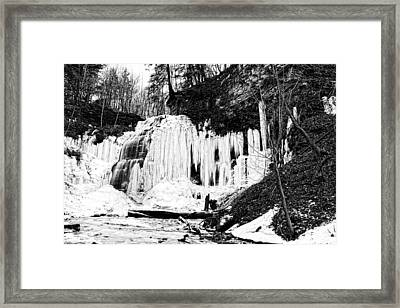 After The Thaw At Tiffany Falls Framed Print