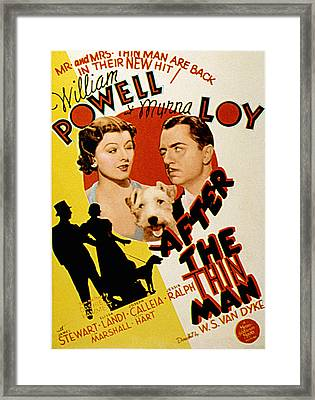 After The Thin Man, Myrna Loy, Asta Framed Print by Everett