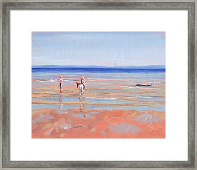 After The Walk - Whiting Bay Framed Print