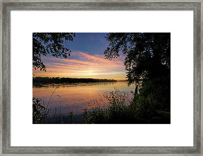 Framed Print featuring the photograph Afterglow by Cricket Hackmann