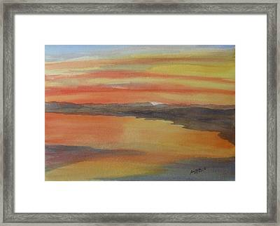Framed Print featuring the painting Afterglow by Joel Deutsch
