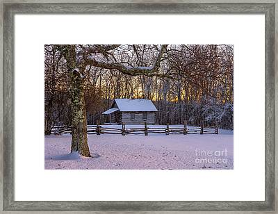 Afterglow Snow Framed Print by Anthony Heflin
