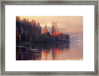Framed Print featuring the photograph Afterglow by Vladimir Kholostykh