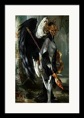 Goddess Of Death Framed Prints