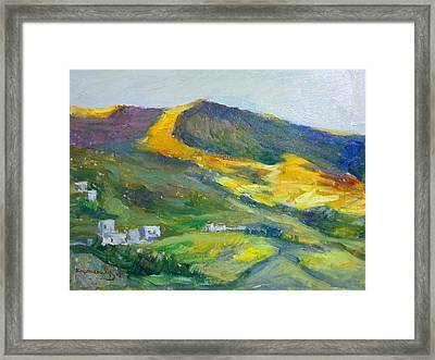 Afternoon Amorgos Framed Print by George Siaba