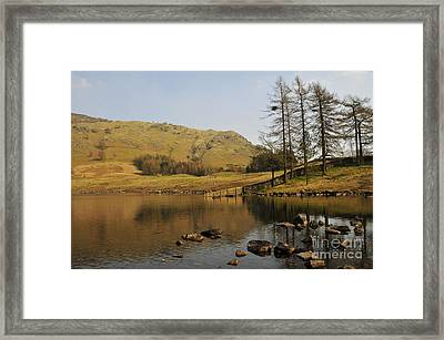 Afternoon At Blea Tarn Framed Print by Nichola Denny