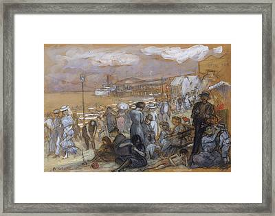 Afternoon At Coney Island Framed Print