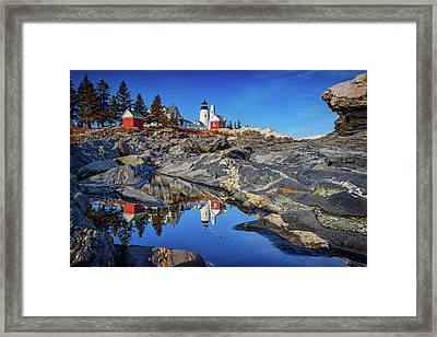 Afternoon At Pemaquid Point Framed Print by Rick Berk