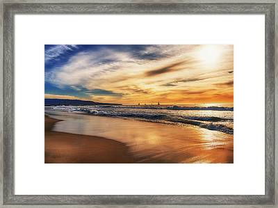 Afternoon At The Beach Framed Print