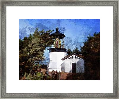 Afternoon At The Cape Meares Lighthouse  Framed Print