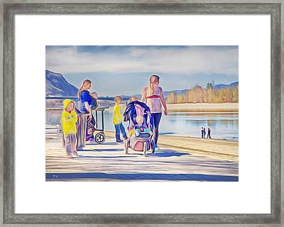 Afternoon At The Park Framed Print by Theresa Tahara