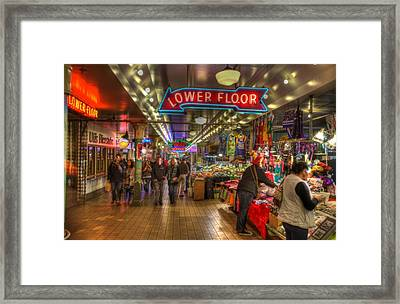 Afternoon At The Pike Street Market Seattle Washington Framed Print