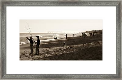 Afternoon At The Shore Framed Print