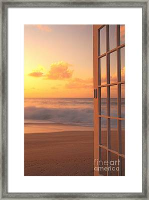 Afternoon Beach Scene Framed Print by Dana Edmunds - Printscapes