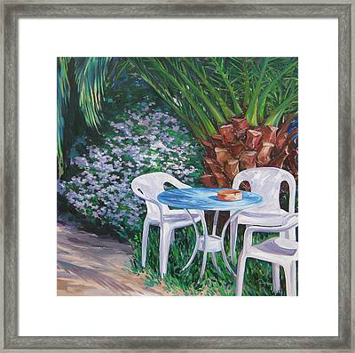 Afternoon Break Framed Print by Karen Doyle