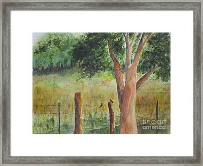 Framed Print featuring the painting Afternoon Chat by Vicki  Housel