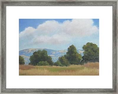 Afternoon Clouds Carpinteria Bluffs Framed Print