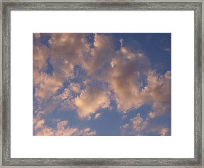 Afternoon Clouds Framed Print by Susan Pedrini