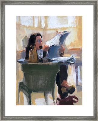 Afternoon Coffee Break Framed Print by Merle Keller