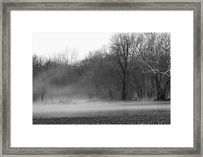 Afternoon Fog Rising Framed Print by Michelle Hastings