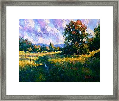 Afternoon In Dutchess County Framed Print by Gene Cadore