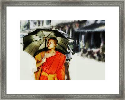 Framed Print featuring the digital art Afternoon In Luang Prabang by Cameron Wood