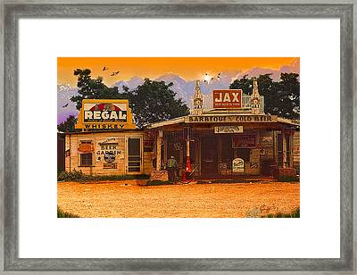 Afternoon In Melrose La Circa 1940 Framed Print
