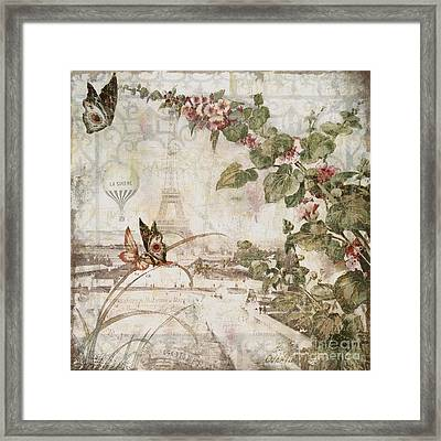 Afternoon In Paris Framed Print by Mindy Sommers