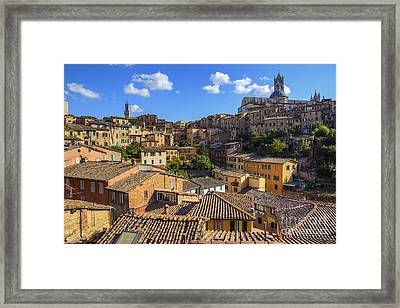 Afternoon In Siena Framed Print