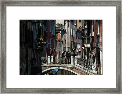 Framed Print featuring the photograph Afternoon In Venice by Alex Lapidus