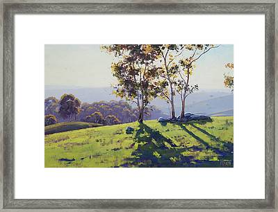 Afternoon Light Cuthill Road Framed Print