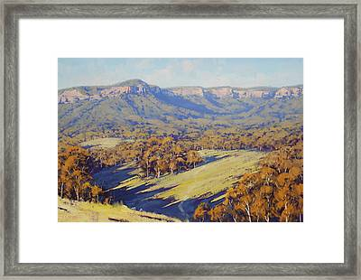 Afternoon Light Megalong Valle Framed Print
