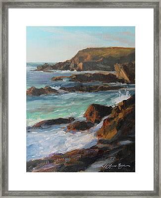 Afternoon Light Point Lobos Framed Print by Anna Rose Bain