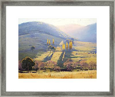 Afternoon Light Tarana  Framed Print by Graham Gercken