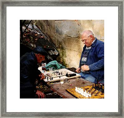 Afternoon Match Framed Print