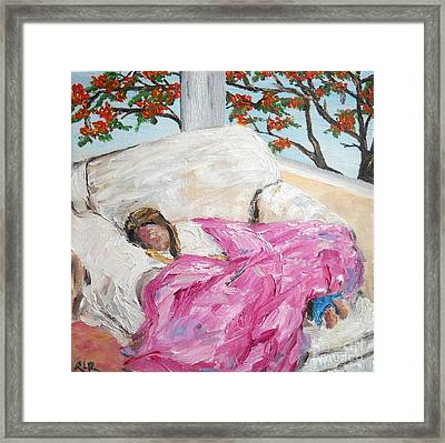 Afternoon Nap At Grandmas Framed Print