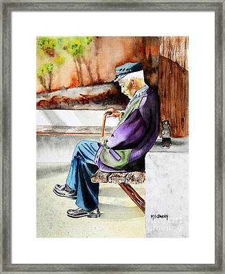 Afternoon Nap Framed Print by Maria Barry